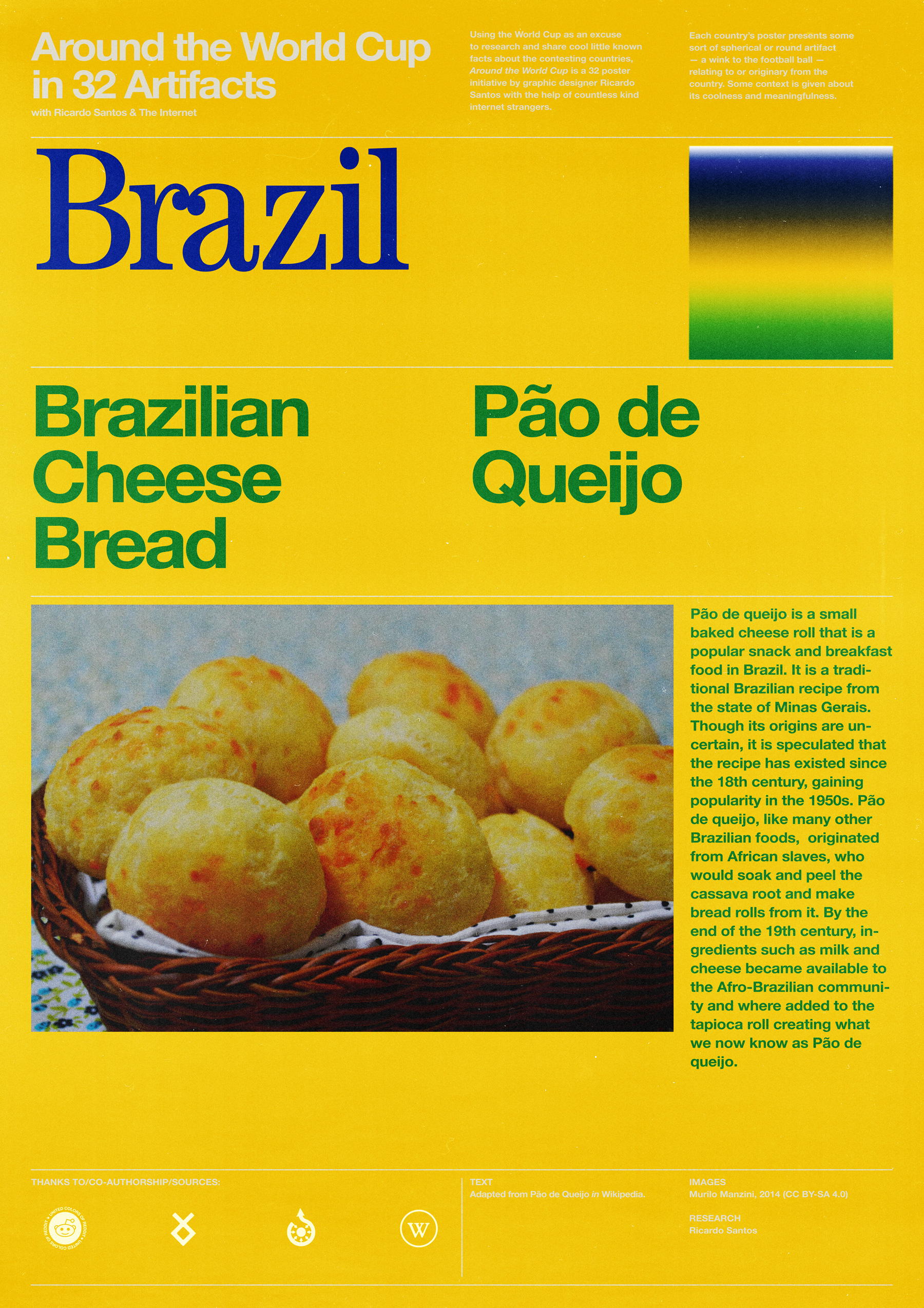 Brazil poster: Brazilian Cheese Bread