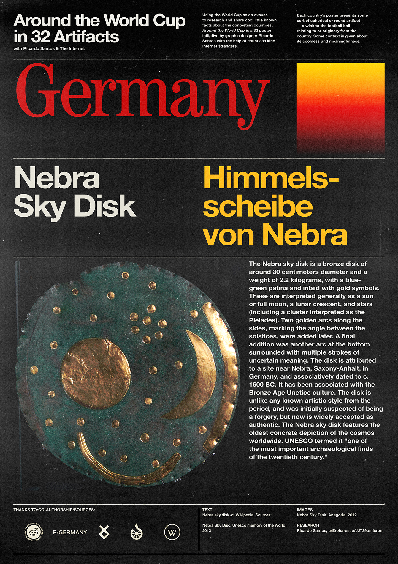 Germany poster: Nebra Sky Disk