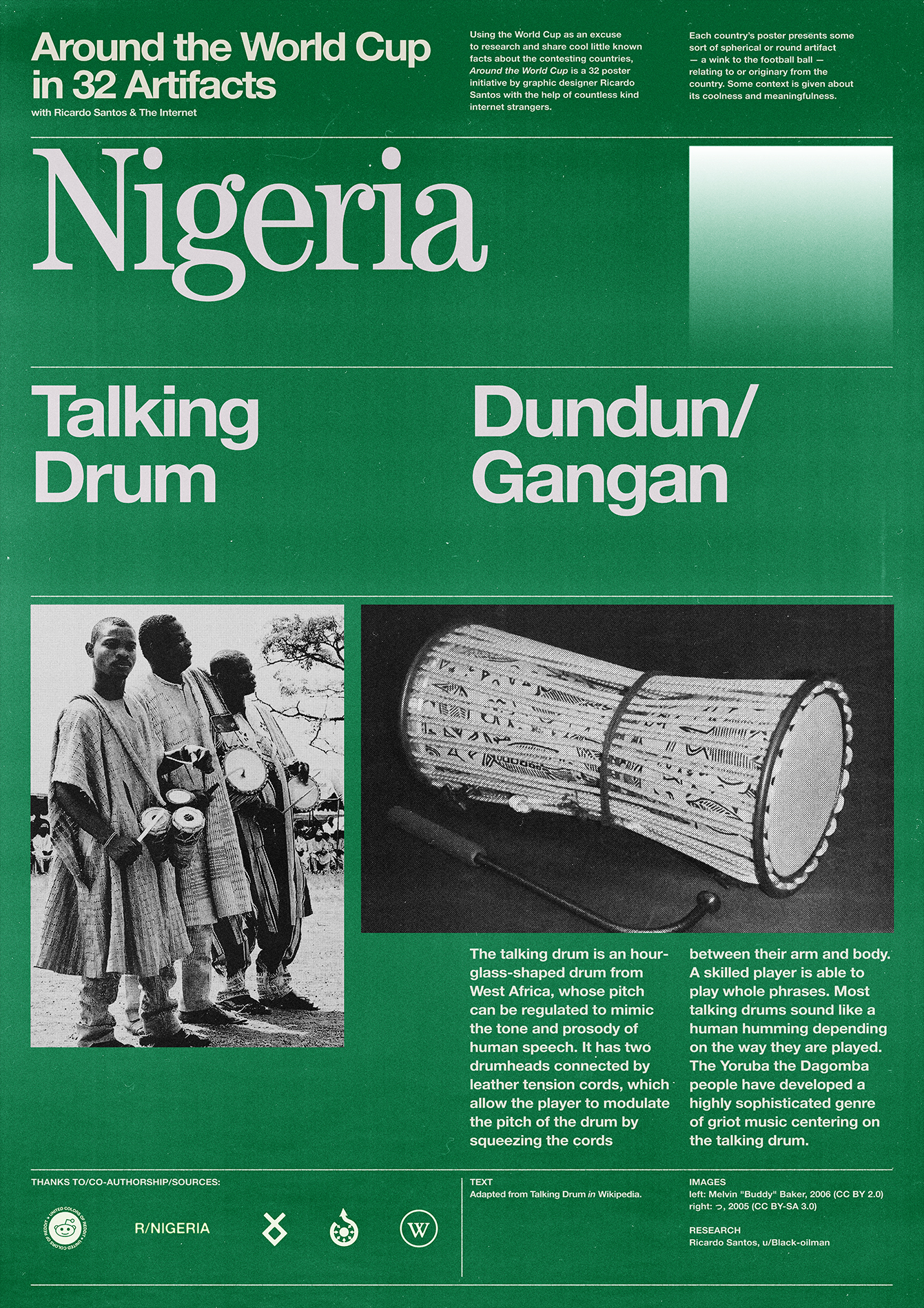 Nigeria poster: Talking Drum