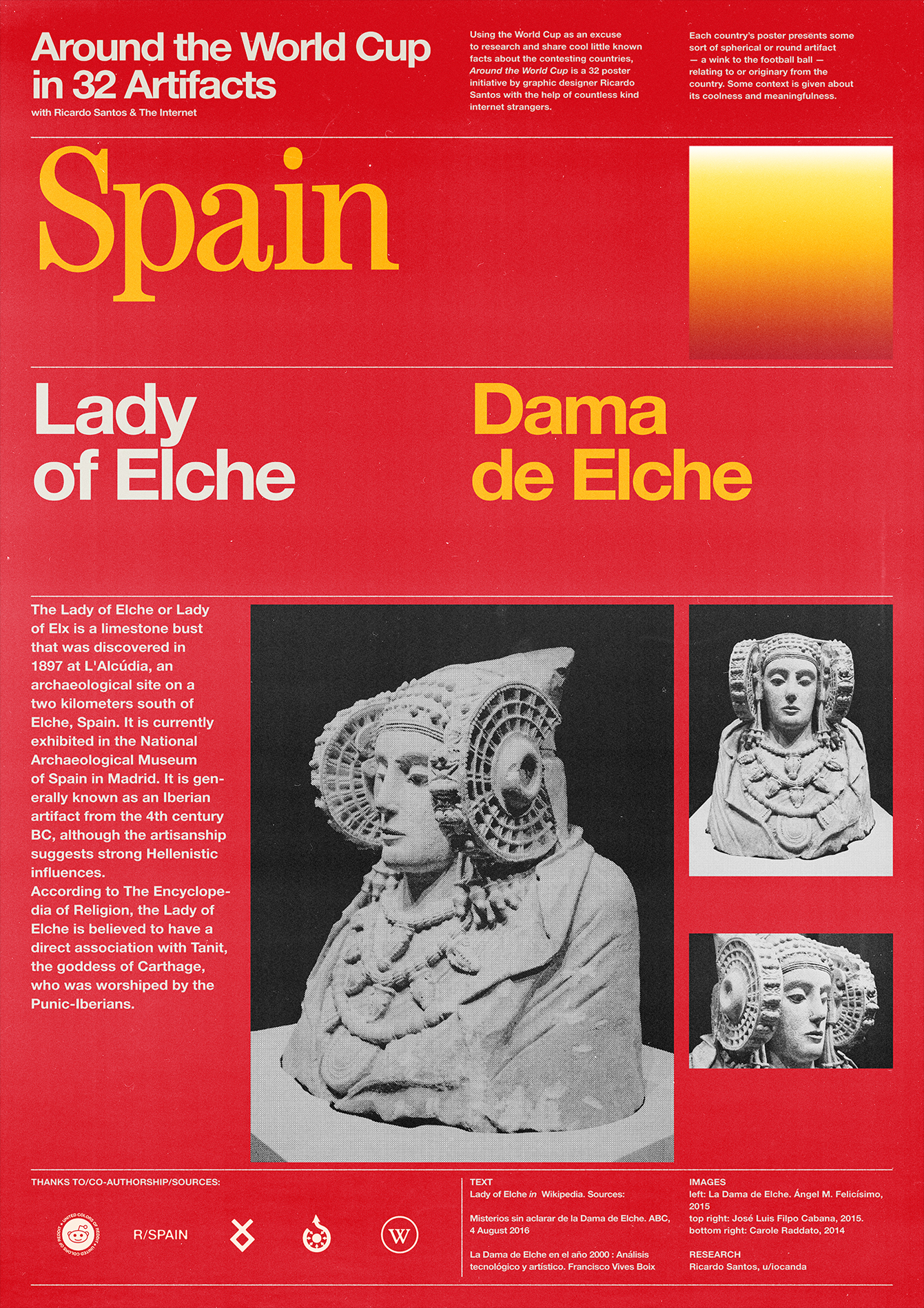 Spain poster: Lady of Elche