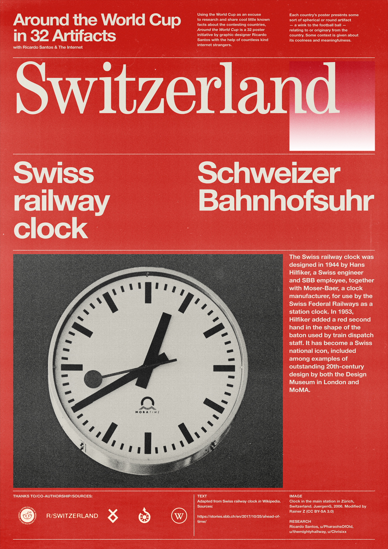Switzerland poster: Swiss Railway Clock