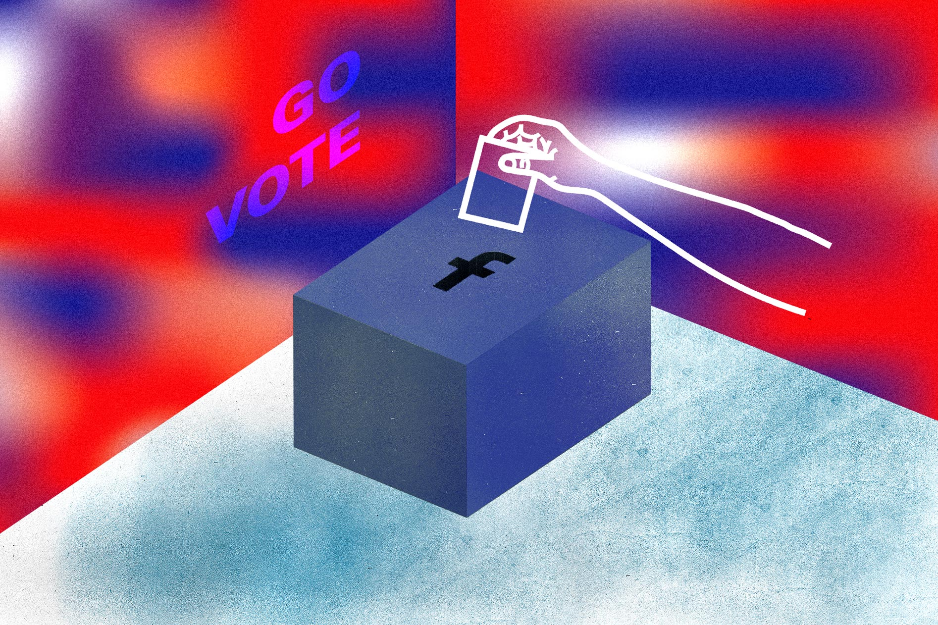 Scrolling Through Facebook Isn't an Excuse to Not Vote Anymore illustration