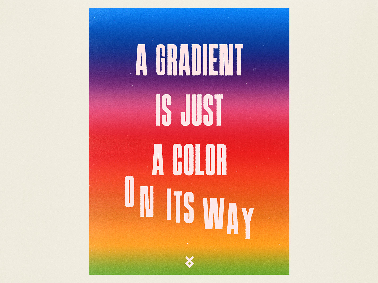 A Gradient is just a color on it's way