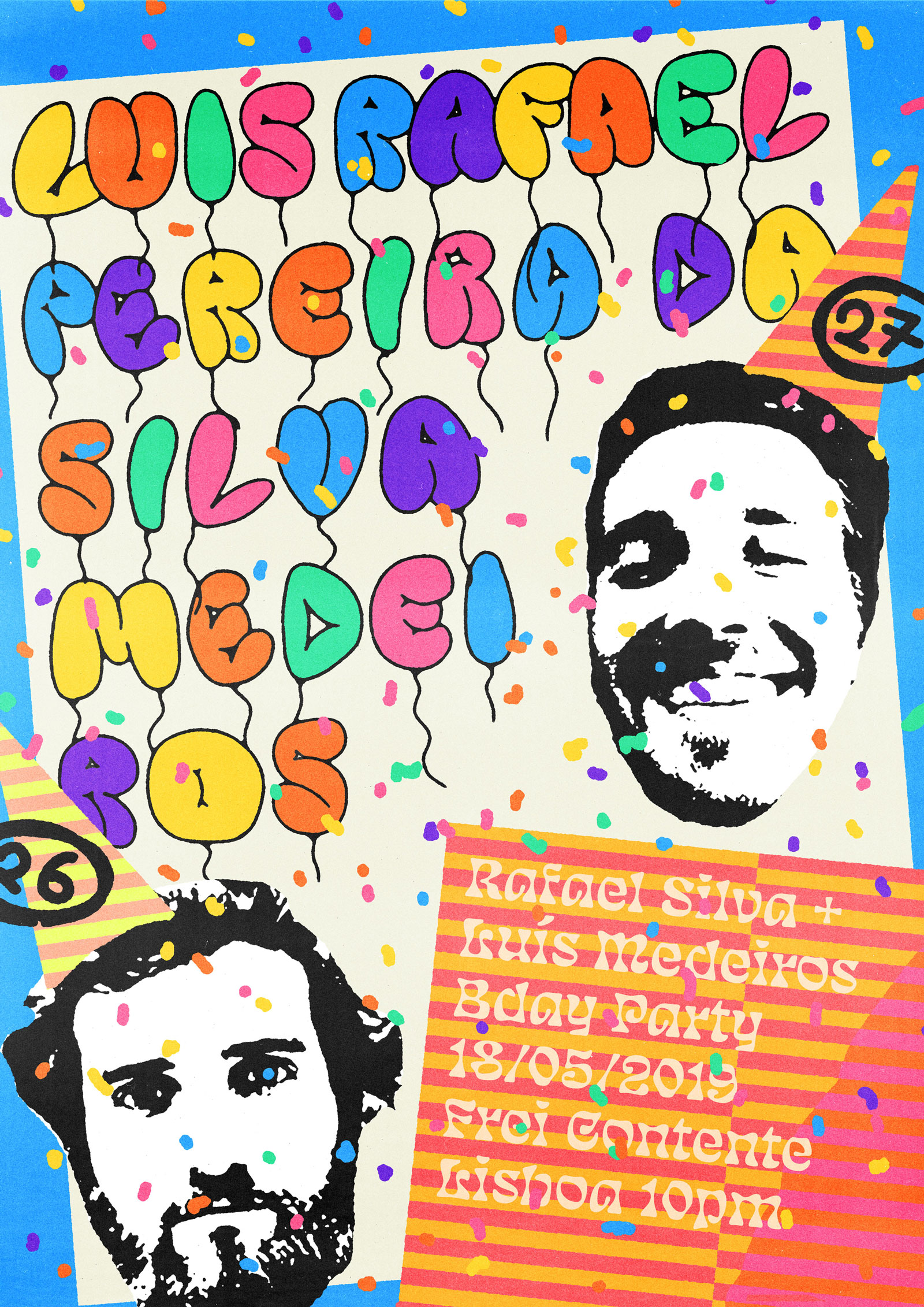 Luis + Rafael Birthday party poster
