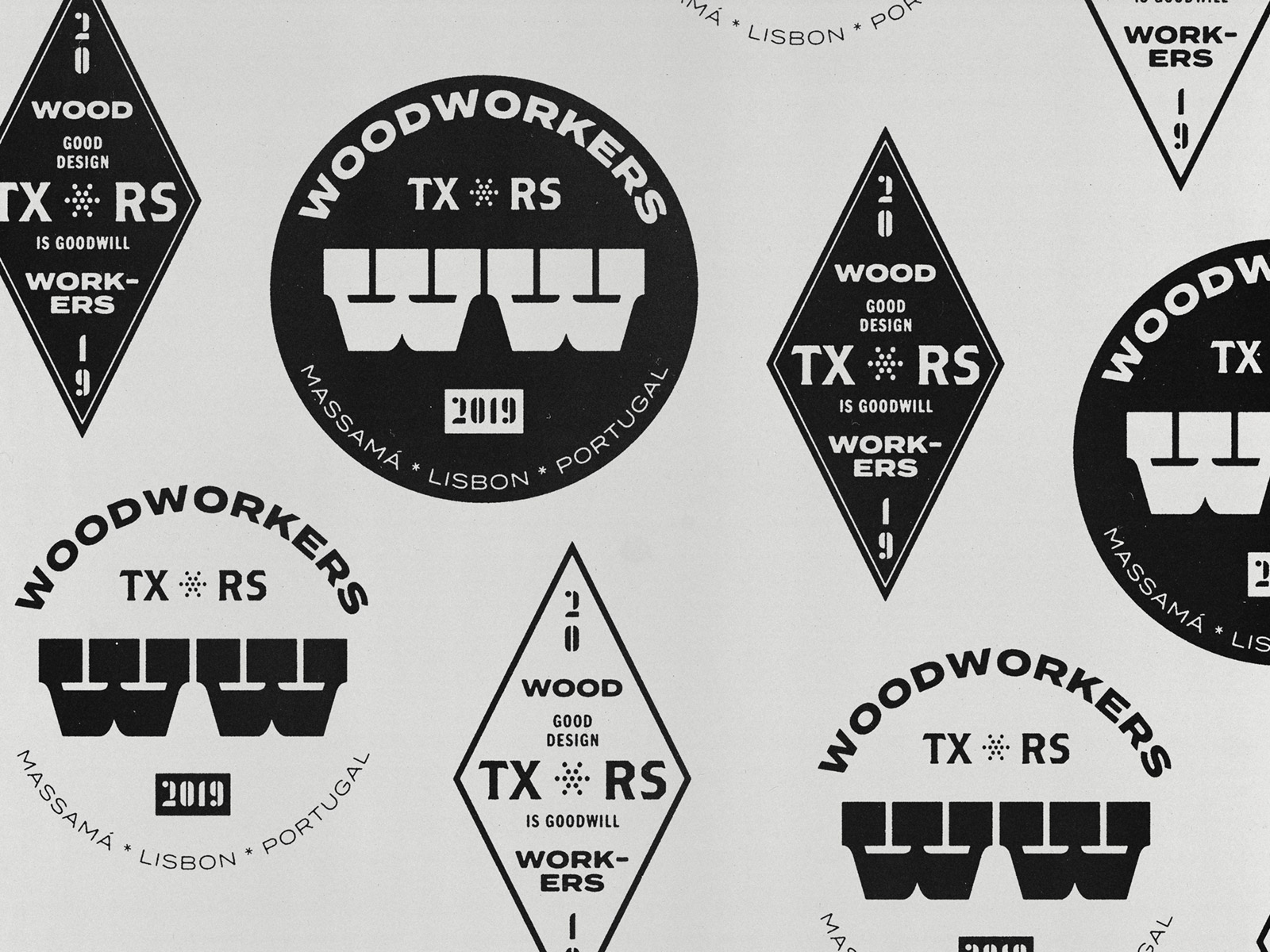 Woodworkers logo explorations